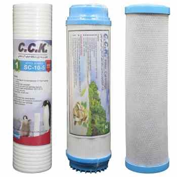 فیلتر دستگاه تصفیه کننده آب خانگی کد ZKH مجموعه ۳ عددی                     غیر اصل