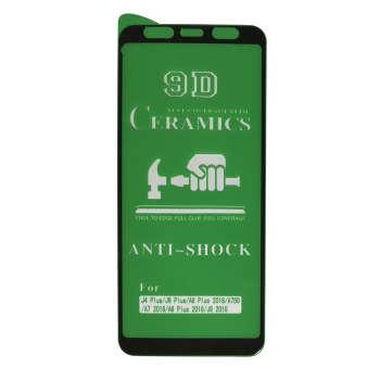 محافظ صفحه نمایش ۹D مدل C R-A105 مناسب برای گوشی موبایل سامسونگ Galaxy J4 Plus/J6 Plus/A7 2018