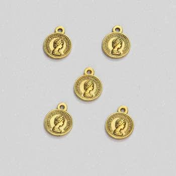 آویز دستبند طرح سکه الیزابت کد HN1706 بسته ۵ عددی