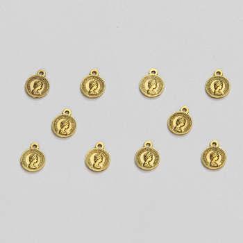 آویز دستبند طرح سکه الیزابت کد HN1707 بسته ۱۰ عددی