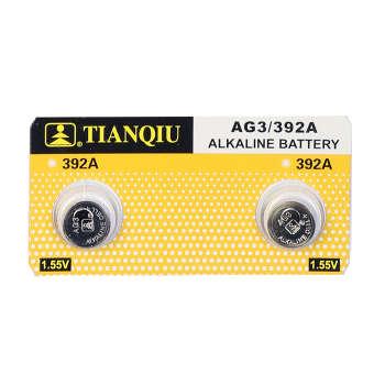 باتری ساعتی تیانکیو مدل AG3 LR41 392 بسته ۲ عددی