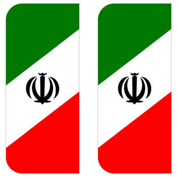 برچسب پلاک خودرو مستر راد طرح پرچم ایران مدل ۱۲۲۱بسته دوعددی