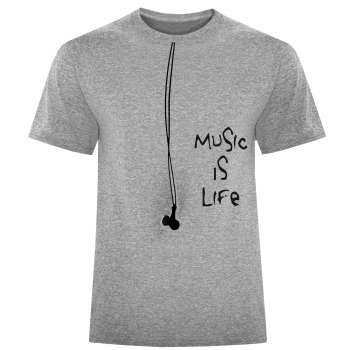 تی شرت مردانه طرح MUSIC کد S352