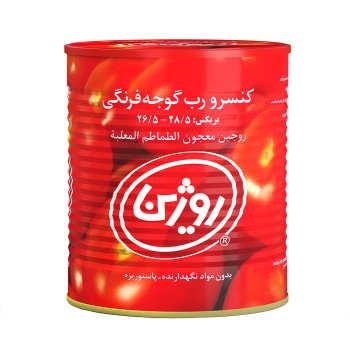 رب گوجه فرنگی روژین مقدار ۸۰۰ گرم