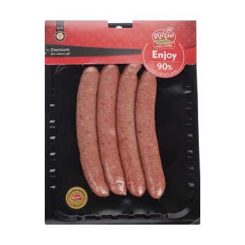سوسیس انجوی ۹۰ درصد گوشت قرمز سولیکو مقدار ۳۰۰ گرم