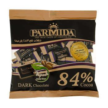 شکلات تلخ ۸۴ درصد پارمیدا مقدار ۲۲۰ گرم