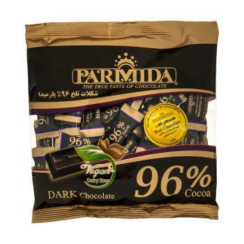 شکلات تلخ ۹۶ درصد پارمیدا مقدار ۲۲۰ گرم