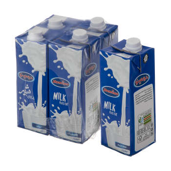 شیر پرچرب دومینو – ۱ لیتر بسته ۴ عددی