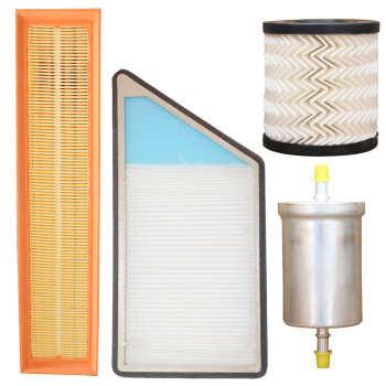 فیلتر هوا خودرو سرعت فیلتر مدل C289 مناسب برای پژو ۲۰۶ به همراه فیلتر کابین و فیلتر روغن و فیلتر بنزین
