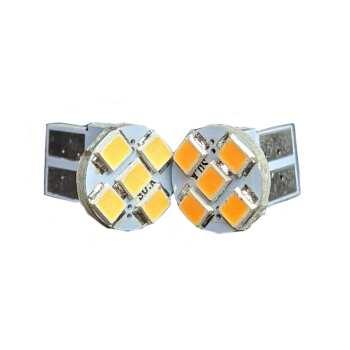 لامپ ال ای دی خودرو تک لایت مدل Am نارنجی بسته ۲ عددی