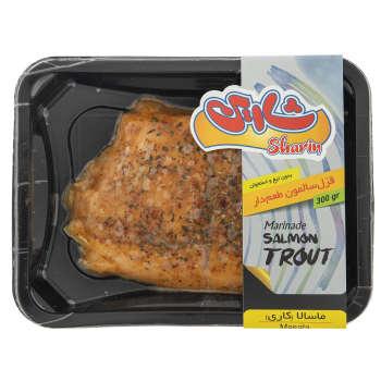 ماهی قزل آلا سالمون طعم دار با طعم ماسالا شارین مقدار ۳۰۰ گرم