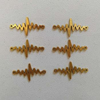 پلاک دستبند طرح ضربان کد HN1542 بسته ۶ عددی