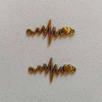 پلاک دستبند طرح ضربان کد HN1543 بسته ۲ عددی