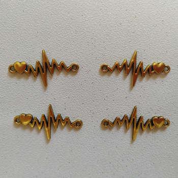 پلاک دستبند طرح ضربان کد HN1544 بسته ۴ عددی