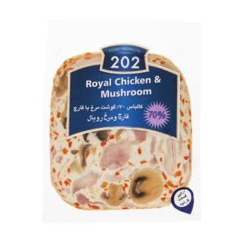 کالباس قارچ و مرغ رویال ۷۰ درصد ۲۰۲ وزن ۳۰۰ گرم
