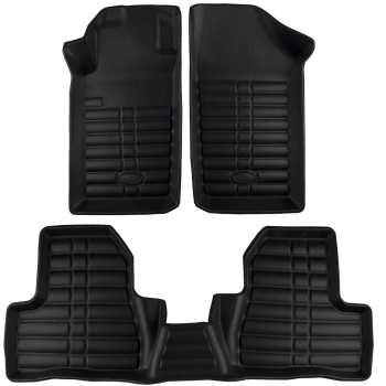 کفپوش سه بعدی چرمی خودرو بابل کارپت مناسب برای پژو ۲۰۶