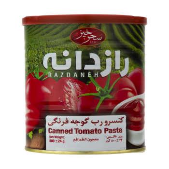 کنسرو رب گوجه فرنگی رازدانه سحر خیز – ۸۰۰ گرم
