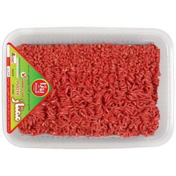 گوشت چرخ کرده مخلوط گوساله و گوسفند پویا پروتئین وزن ۵۰۰ گرم