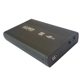 باکس تبدیل SATA به USB 2.0 هارددیسک ۳٫۵ اینچ مدل E22