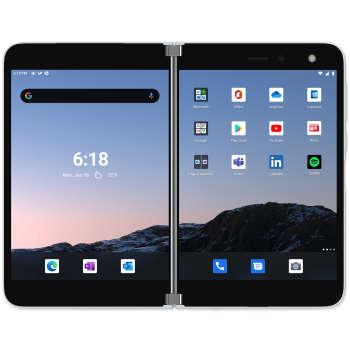 گوشی موبایل مایکروسافت مدل Surface Dou تک سیم کارت ظرفیت ۲۵۶ گیگابایت و رم ۶ گیگابایت
