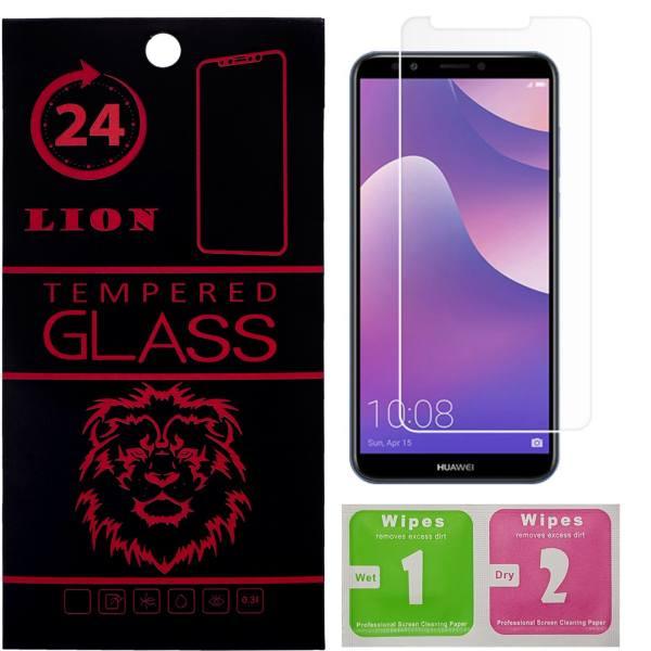 محافظ صفحه نمایش شیشه ای لاین مدل ۲٫۵D مناسب برای گوشی هوآوی Y7 Prime 2018